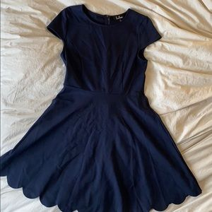 Navy FIT and FLARE Lulu's dress